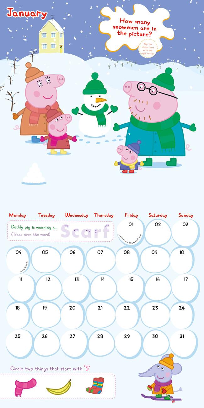 календар 2020 Peppa Pig