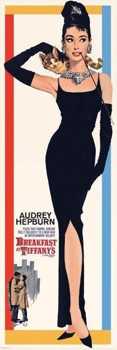AUDREY HEPBURN - breakfast at tiffany's - плакат