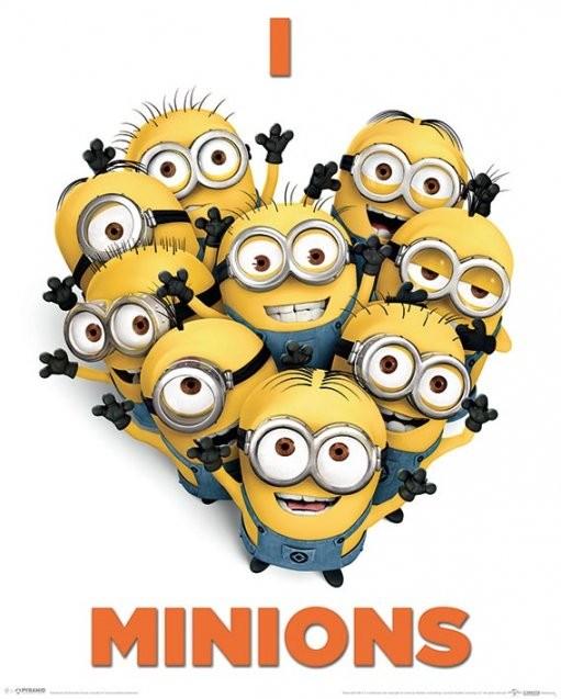Poster quadro cattivissimo me 2 i love minions su for Espectaculo gru y sus minions