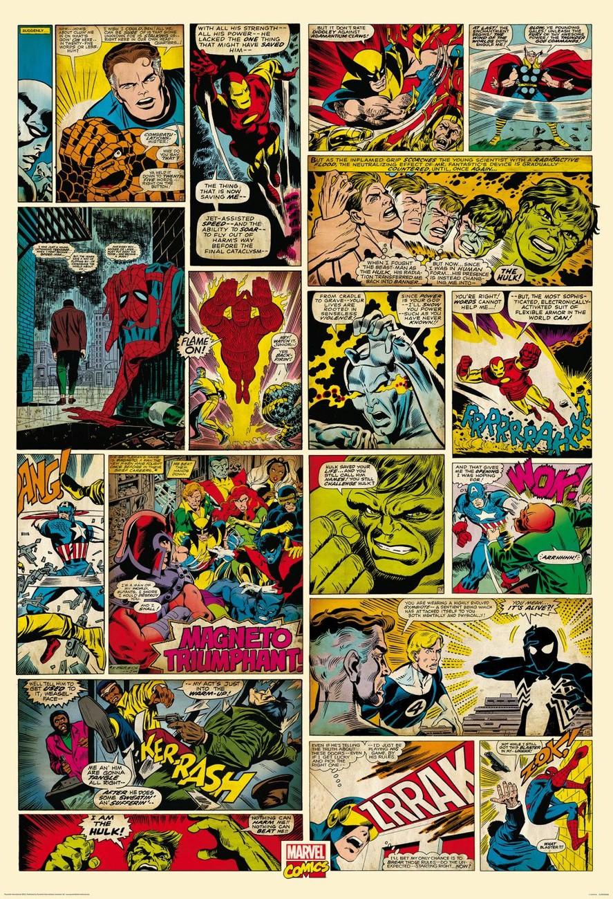 Carta da parati avengers comic marvel - Marvel spiderman comics pdf ...
