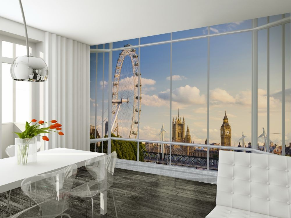 fototapete london fenster bei. Black Bedroom Furniture Sets. Home Design Ideas