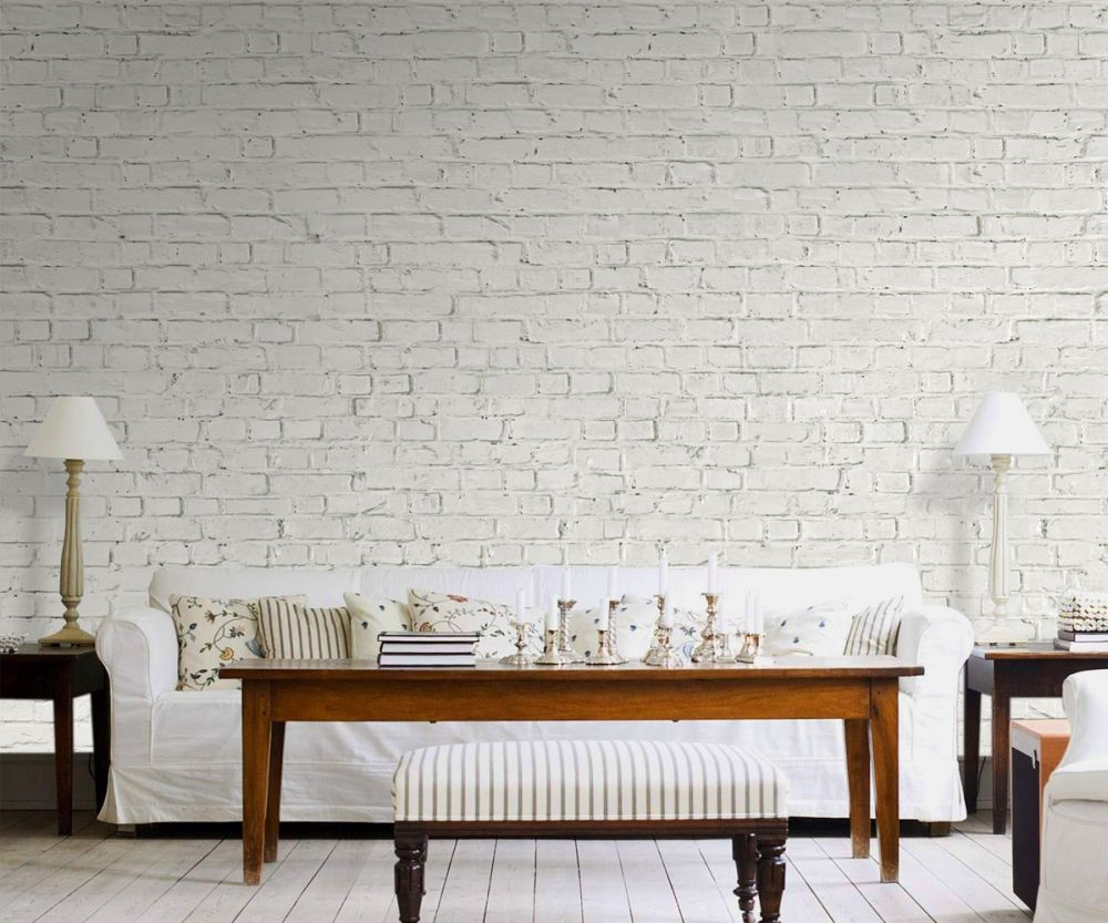 Wall Paneling Designs For Office : Poster murali muro di mattoni bianchi europosters