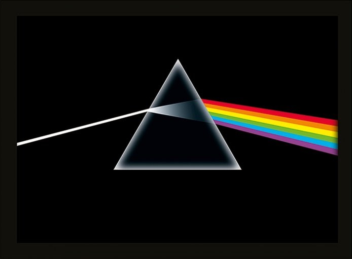 Pink floyd dark side of the moon poster encadr tableau for Dark side of the moon mural