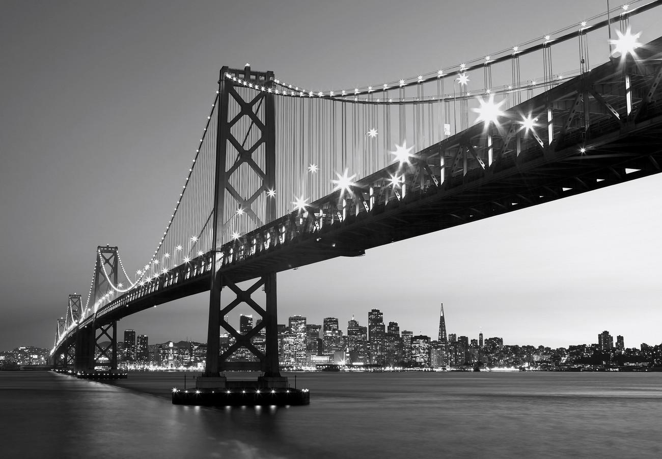 Fototapete skyline schwarz weiß  Fototapete, Tapete SAN FRANCISCO - skyline bei EuroPosters