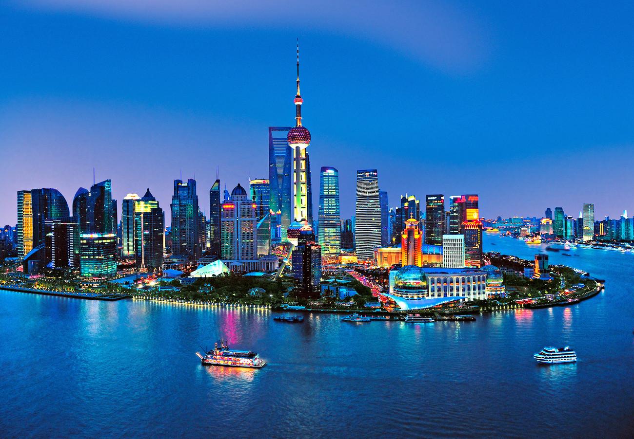 Fototapete skyline  Fototapete, Tapete SHANGHAI - skyline bei EuroPosters