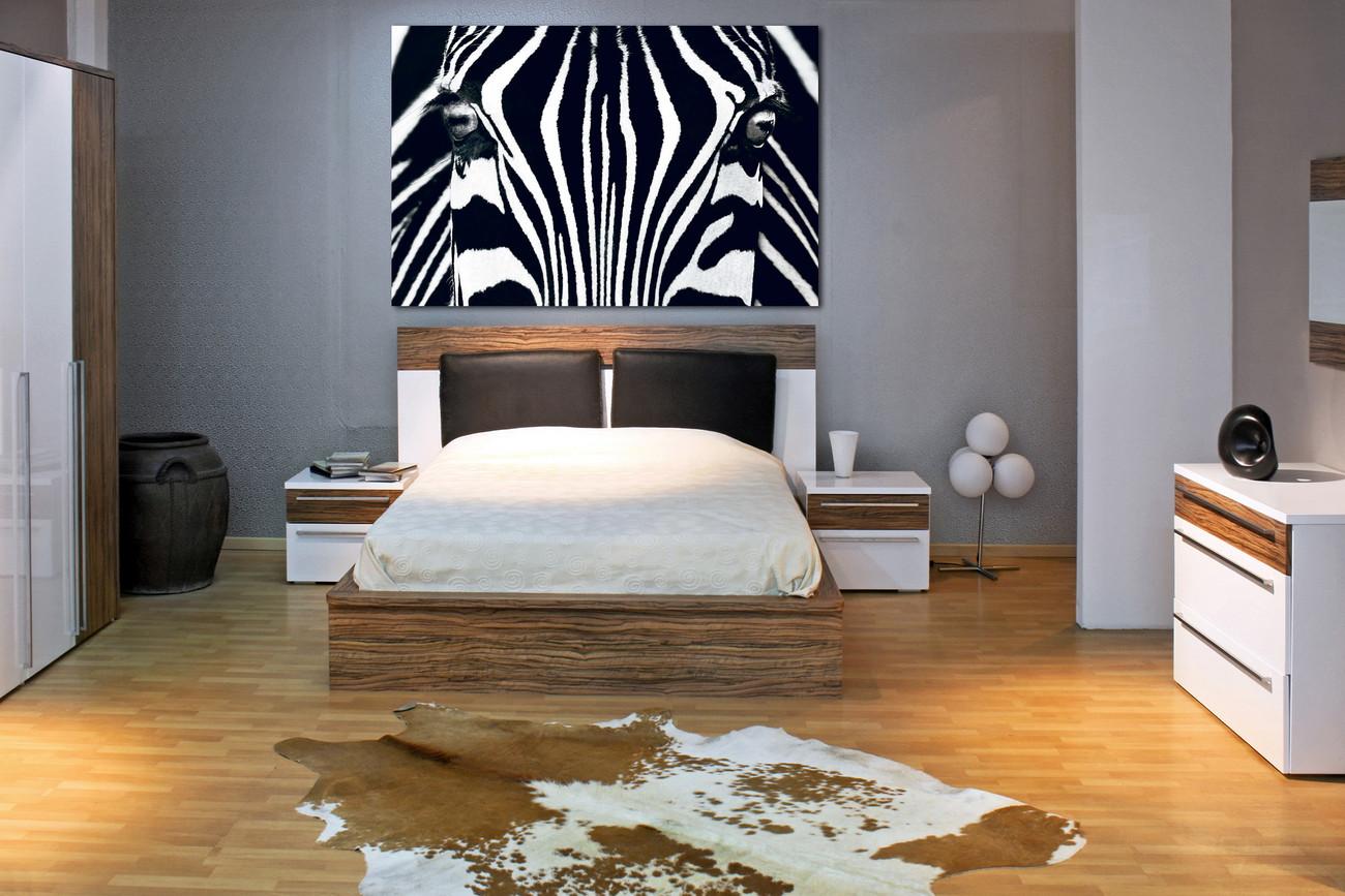 Fotobehang Slaapkamer Zwart Wit : Bestel een Zebra - Zwart & Wit ...