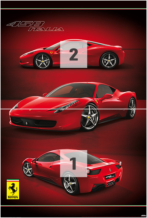 fototapete ferrari bei. Black Bedroom Furniture Sets. Home Design Ideas