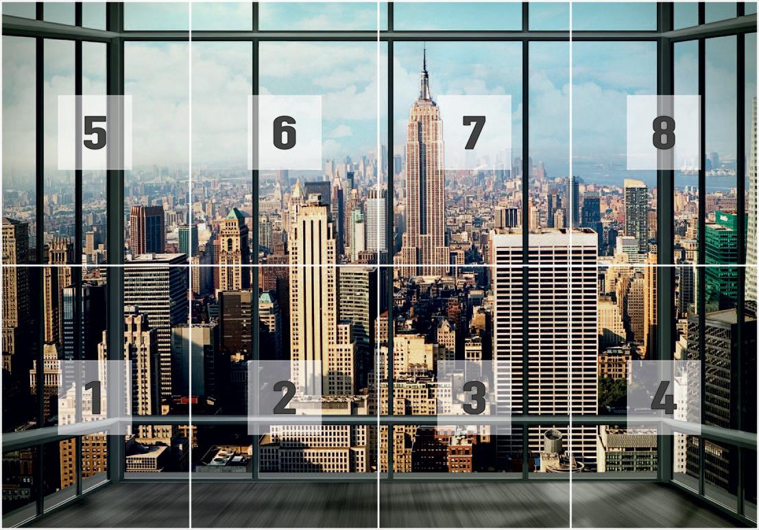 Fotomurale nueva york manhattan skyline papel pintado - Papel pintado nueva york ...
