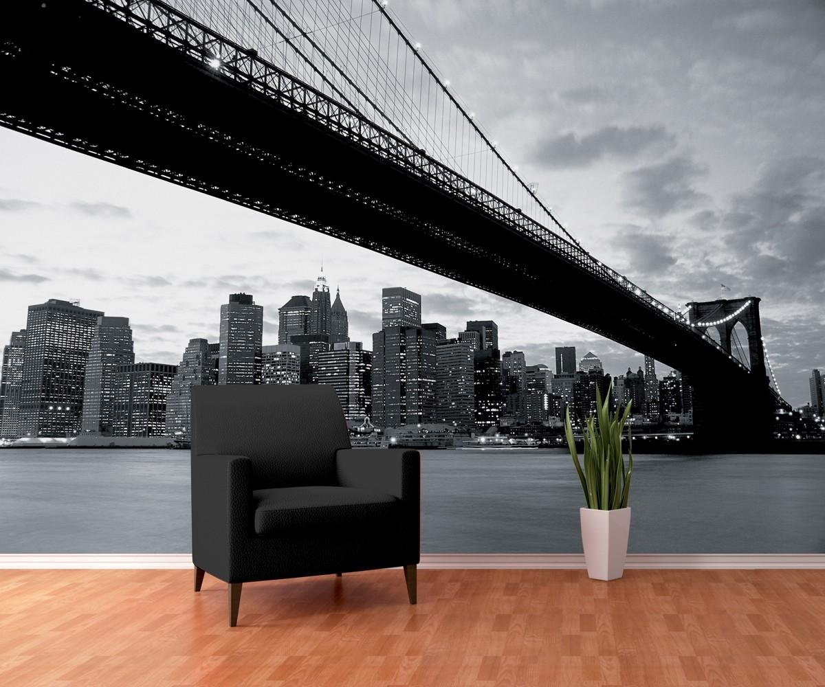 brooklyn bridge nowy jork fototapeta tapeta kup na. Black Bedroom Furniture Sets. Home Design Ideas