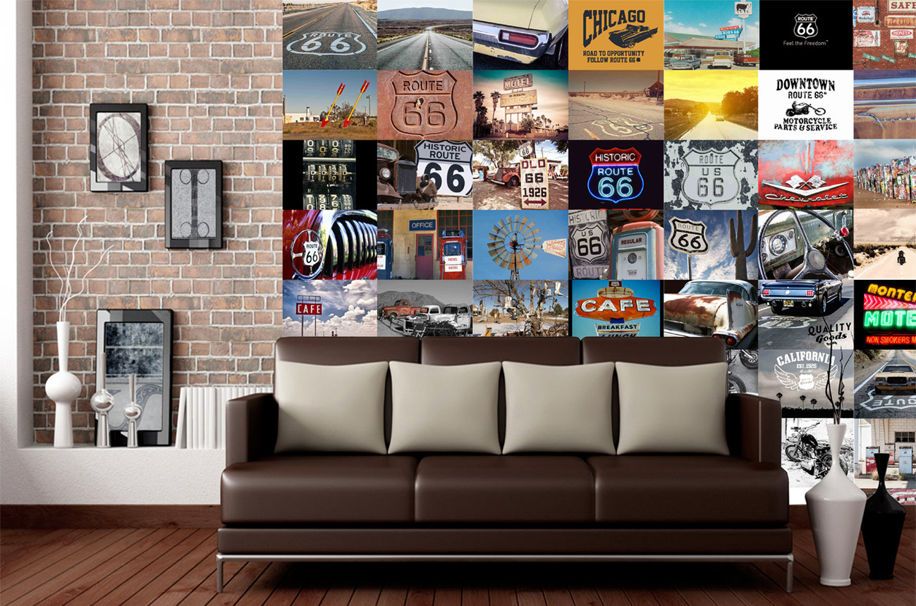 fototapete route 66 bei. Black Bedroom Furniture Sets. Home Design Ideas