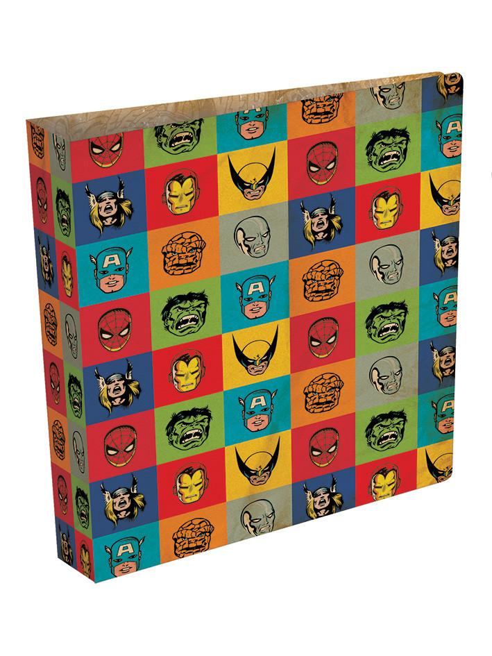Marvel retro faces ring binder fournitures de bureau for Acheter fournitures de bureau