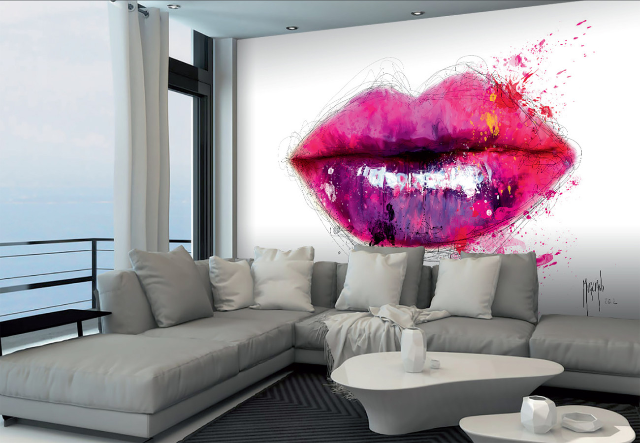Patrice murciano lips poster mural papier peint for Poster mural intisse