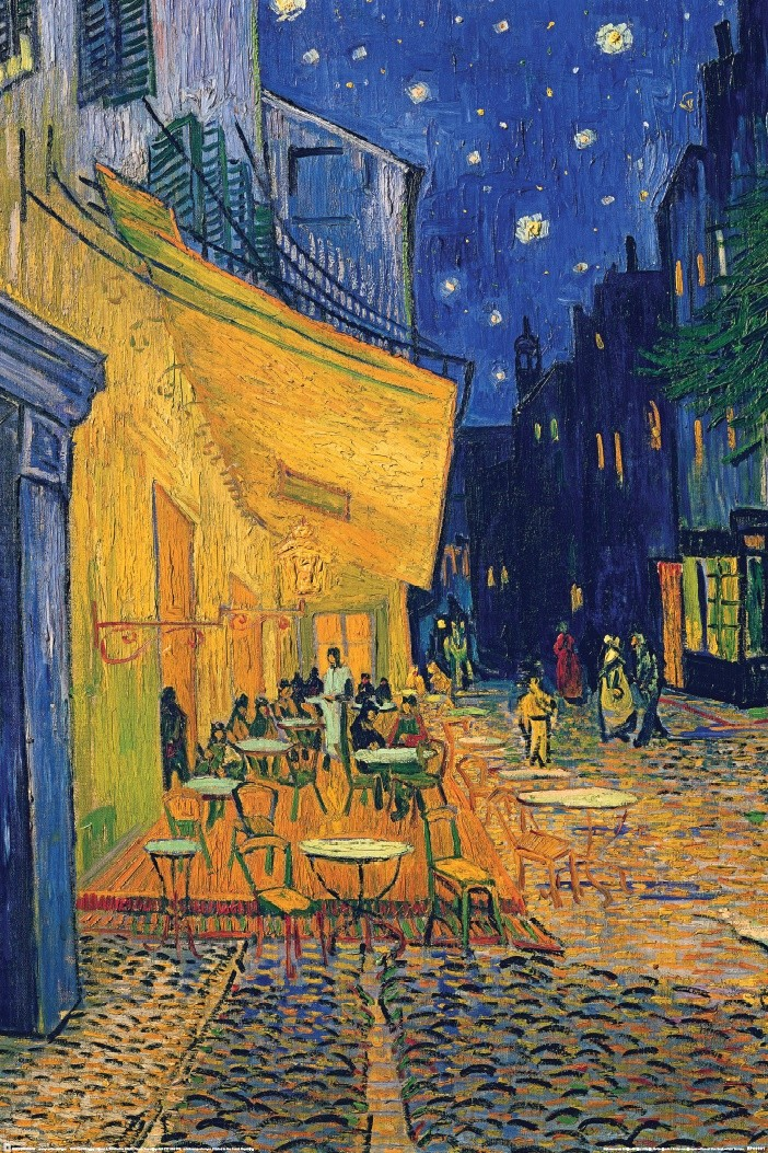 Vincent van gogh caf terrace poster plakat 3 1 gratis - Van gogh comedores de patatas ...