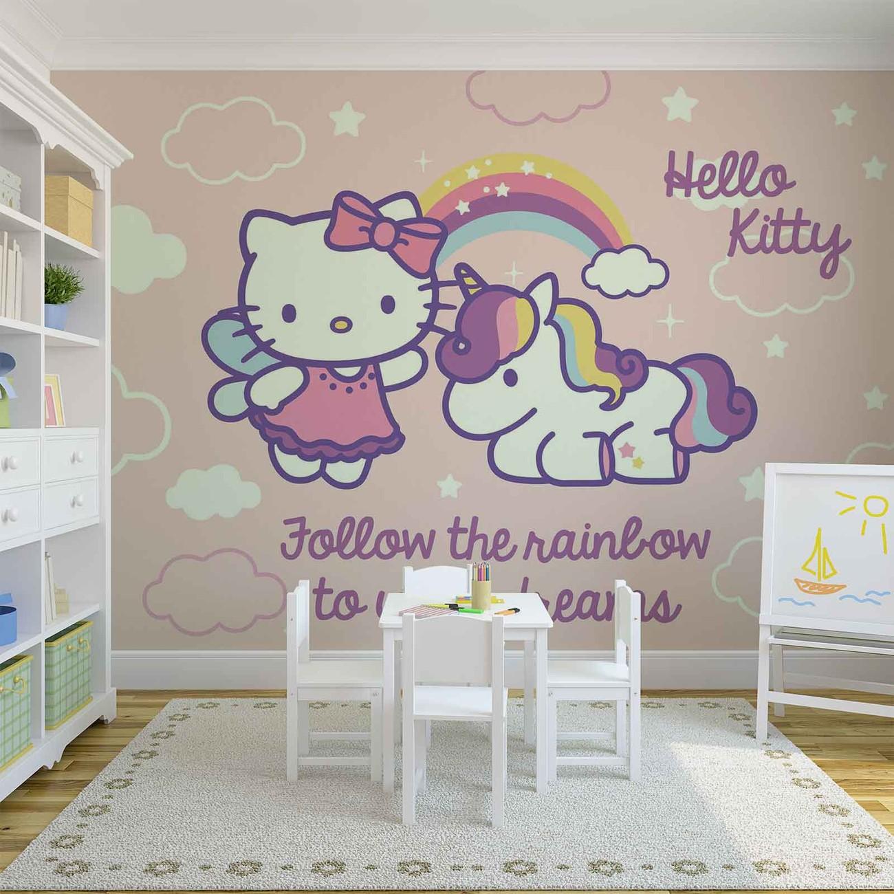 Hello kitty poster mural papier peint acheter le sur - Poster mural sur mesure ...