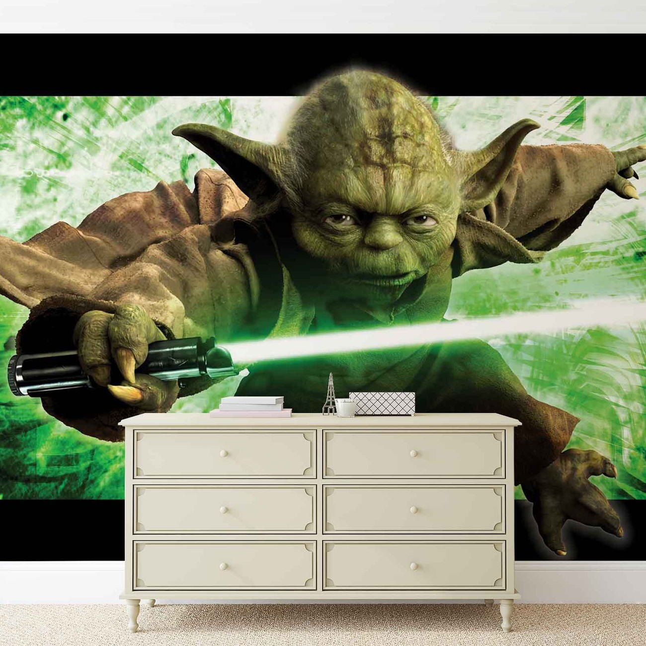 fototapete tapete star wars meister yoda bei europosters. Black Bedroom Furniture Sets. Home Design Ideas