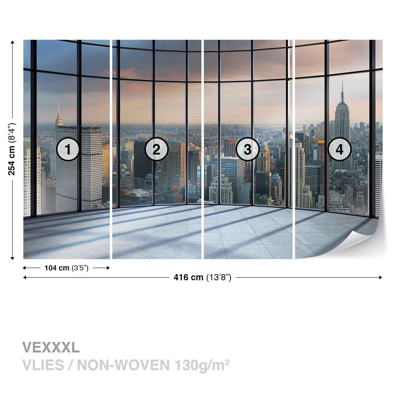 Carta da parati vista new york city for Carta da parati new york ebay