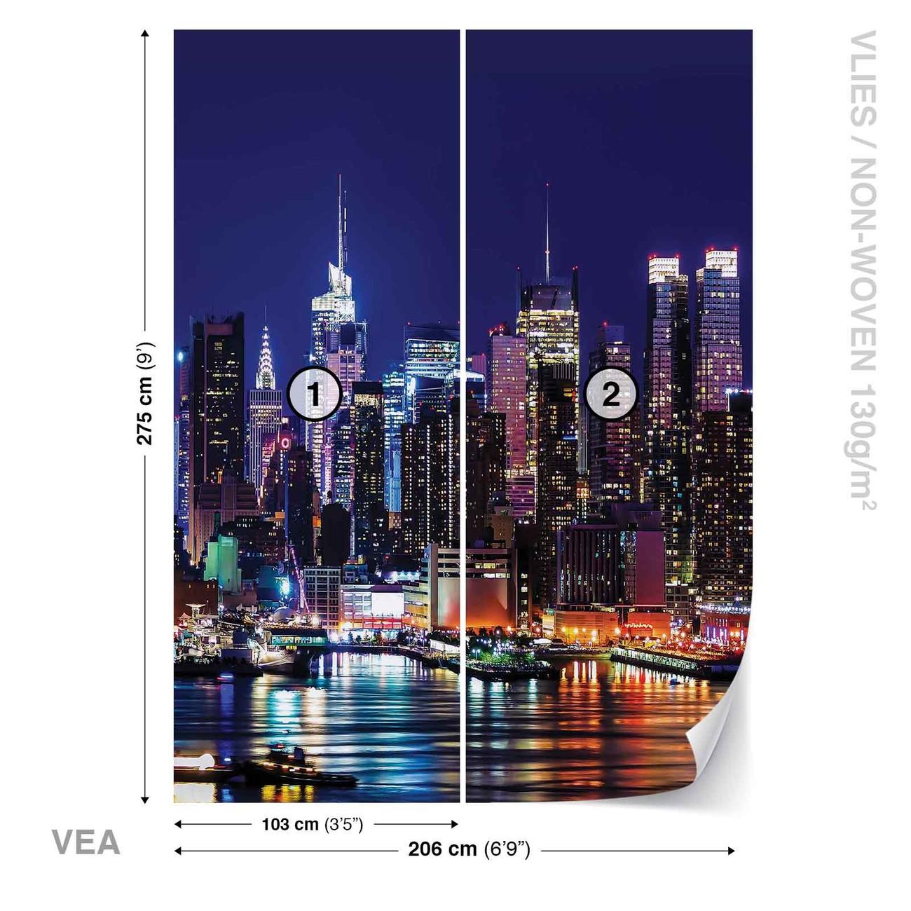 La ville de new york poster mural papier peint acheter for Acheter poster mural new york