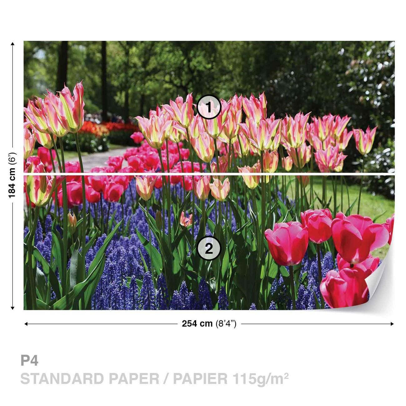 Champ de fleurs poster mural papier peint acheter le sur - Ou acheter le tapis champ de fleurs ...