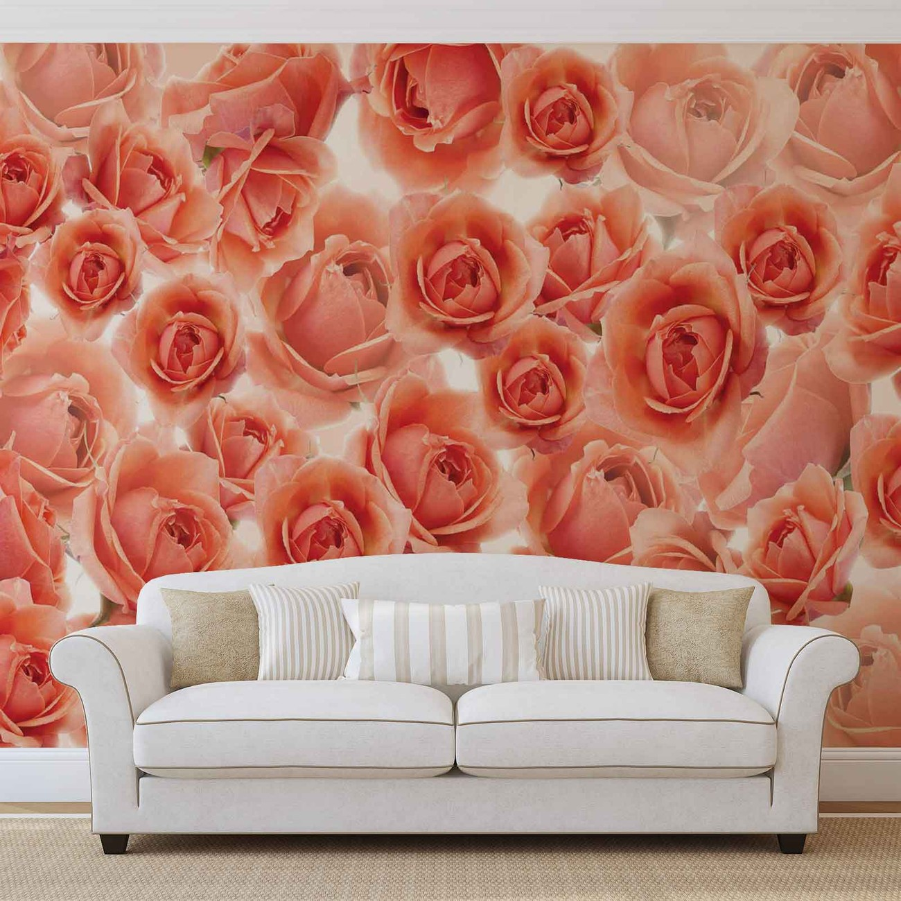 fleurs roses rouges poster mural papier peint acheter. Black Bedroom Furniture Sets. Home Design Ideas
