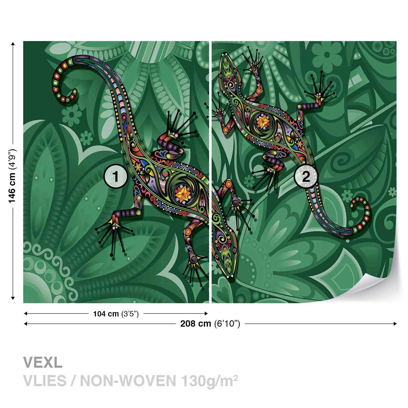 fleurs l zard couleurs abstraites poster mural papier peint acheter le sur. Black Bedroom Furniture Sets. Home Design Ideas