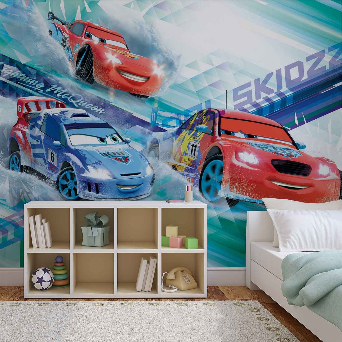 fototapete tapete disney cars raoul aroule mcqueen bei. Black Bedroom Furniture Sets. Home Design Ideas