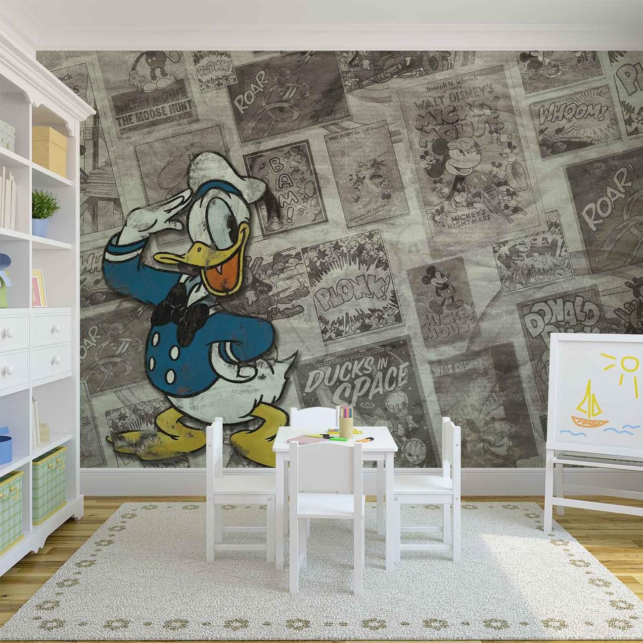 Disney donal duck papier journal vintage poster mural - Poster mural sur mesure ...