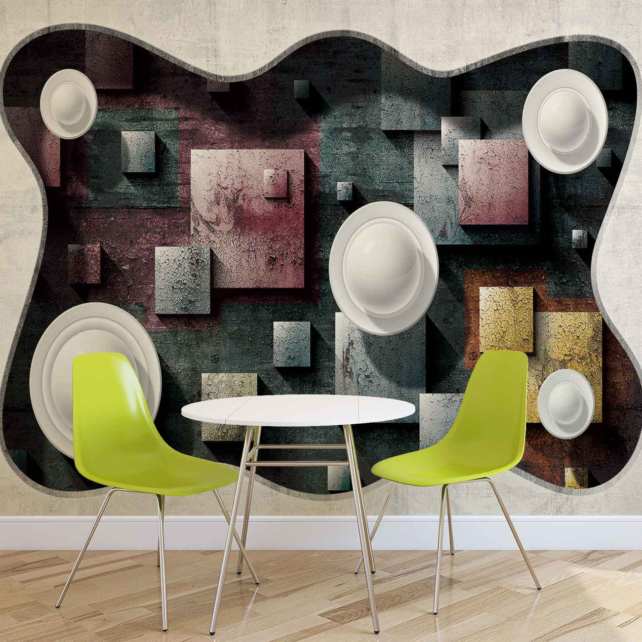 Fototapete tapete modern abstrakt design kunst kugeln bei for Design versand