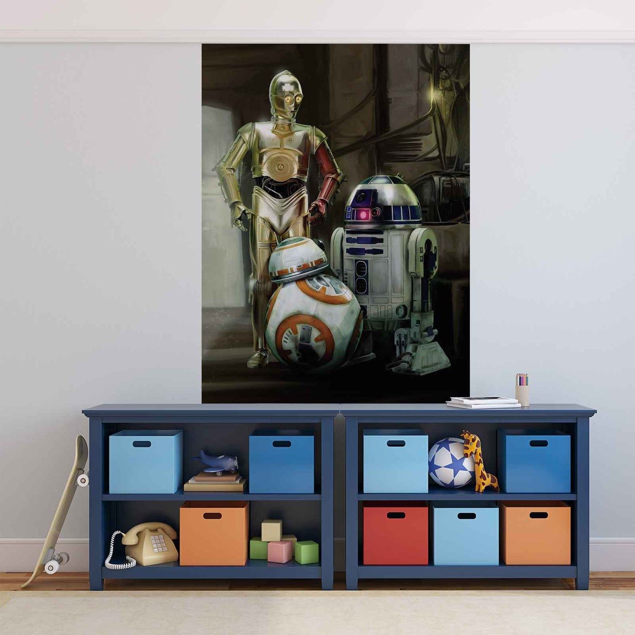 Fototapete tapete star wars droide bei europosters for Tapete star wars