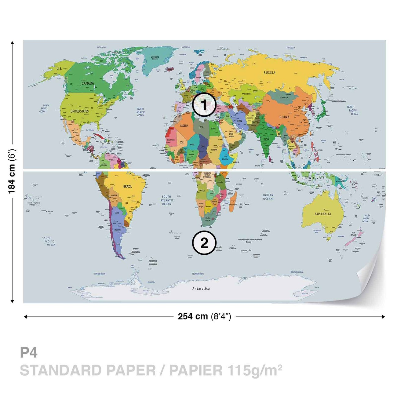Fotomurale mapa del mundo papel pintado - Papel pintado mapa del mundo ...