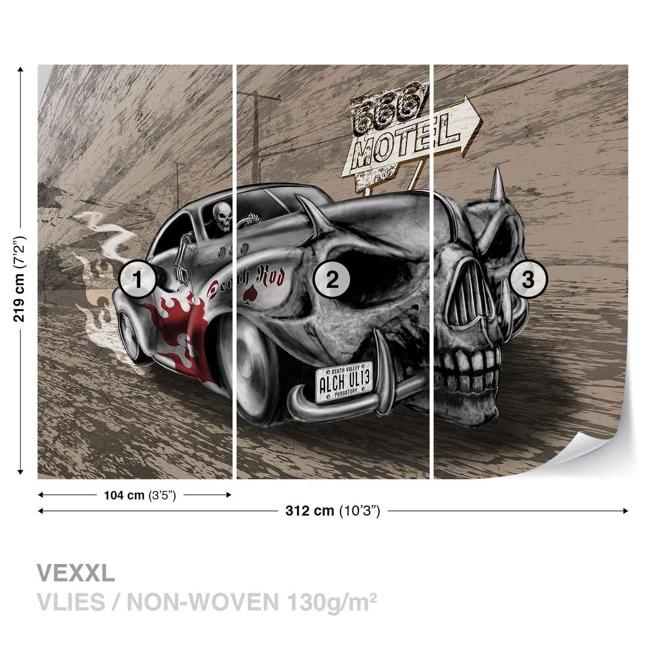 alchimie mort hot rod voiture cr ne poster mural papier peint acheter le sur. Black Bedroom Furniture Sets. Home Design Ideas