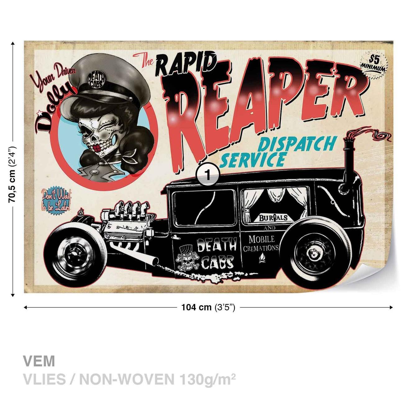 alchimie mort taxi cutie voiture cr ne poster mural papier peint acheter le sur. Black Bedroom Furniture Sets. Home Design Ideas