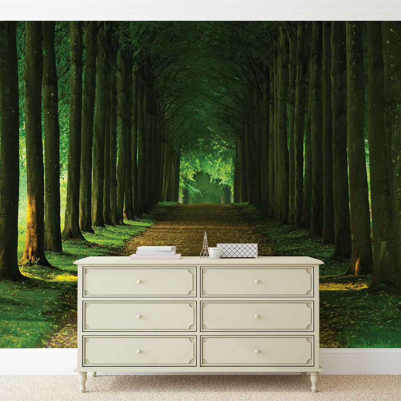 fototapete tapete weg b ume wald natur bei europosters. Black Bedroom Furniture Sets. Home Design Ideas