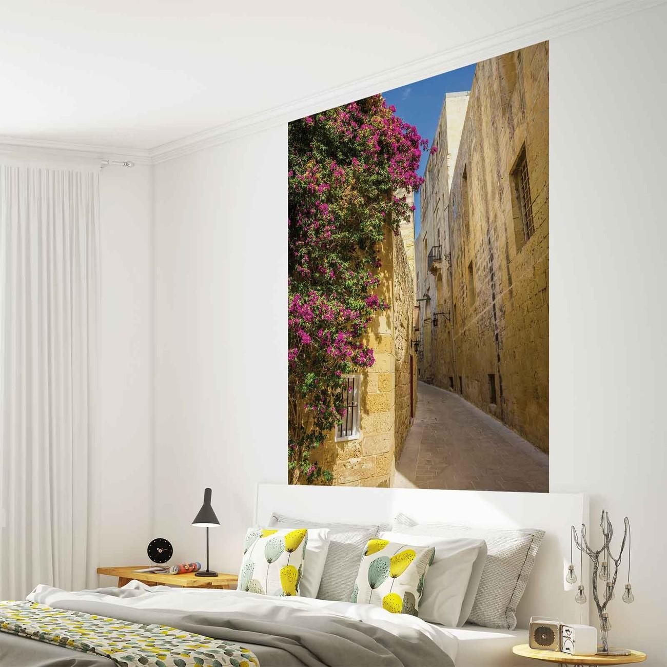 Fotomurale flores de la ciudad vieja papel pintado for Papel pintado ciudades
