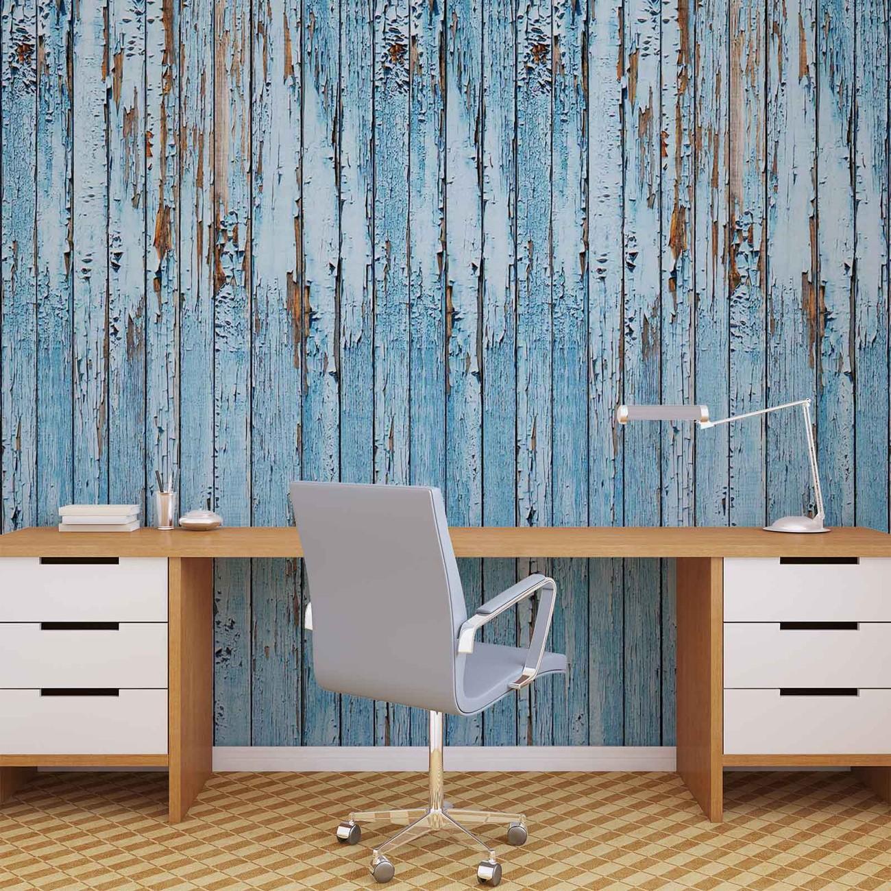 Planches de bois poster mural papier peint acheter le for Acheter planche de bois