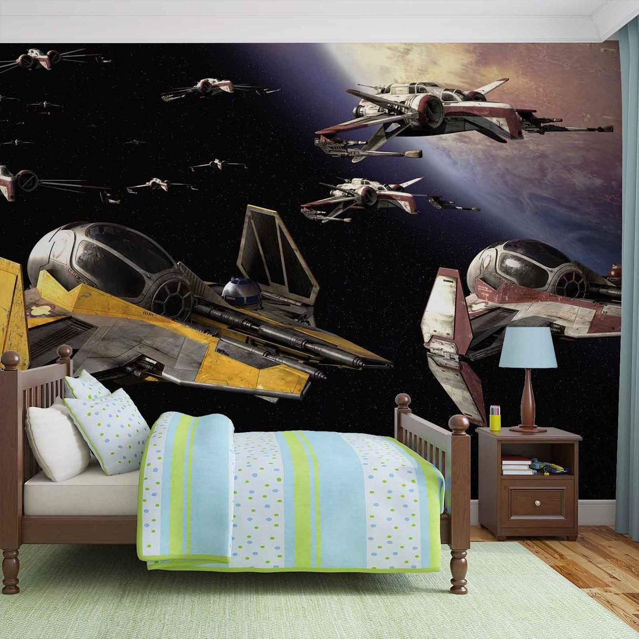 Fotomurale guerra de las galaxias anakin jedi starfighter for Decoracion de cuarto star wars