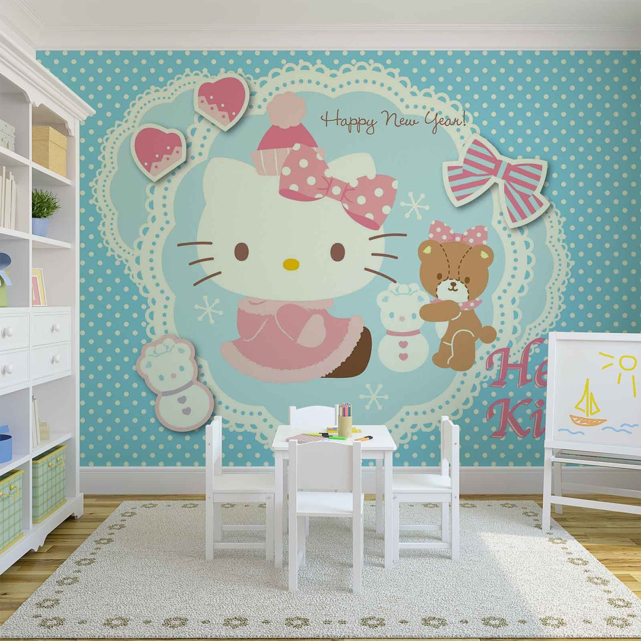 hello kitty poster mural papier peint acheter le sur. Black Bedroom Furniture Sets. Home Design Ideas
