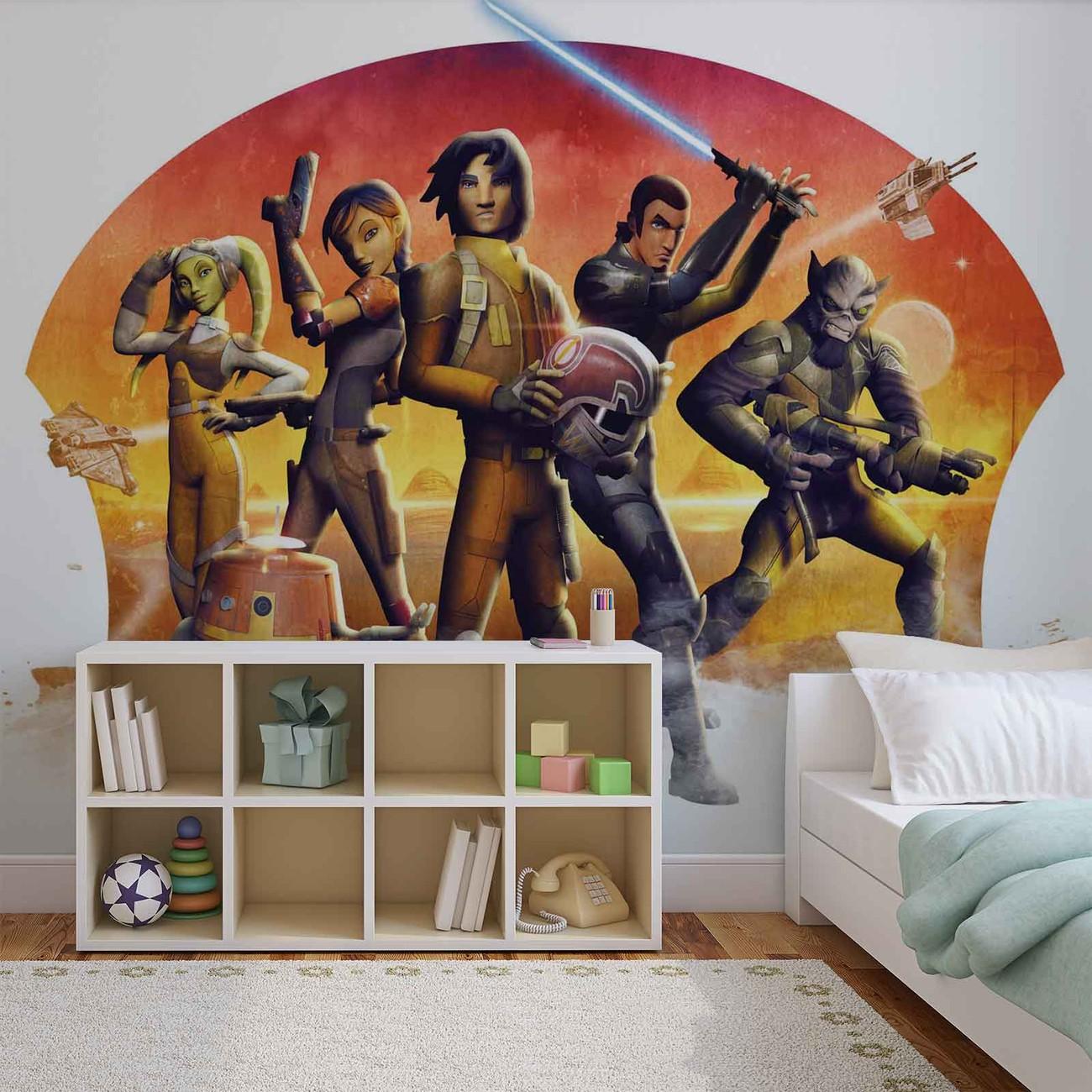 fototapete tapete star wars rebels bei europosters. Black Bedroom Furniture Sets. Home Design Ideas