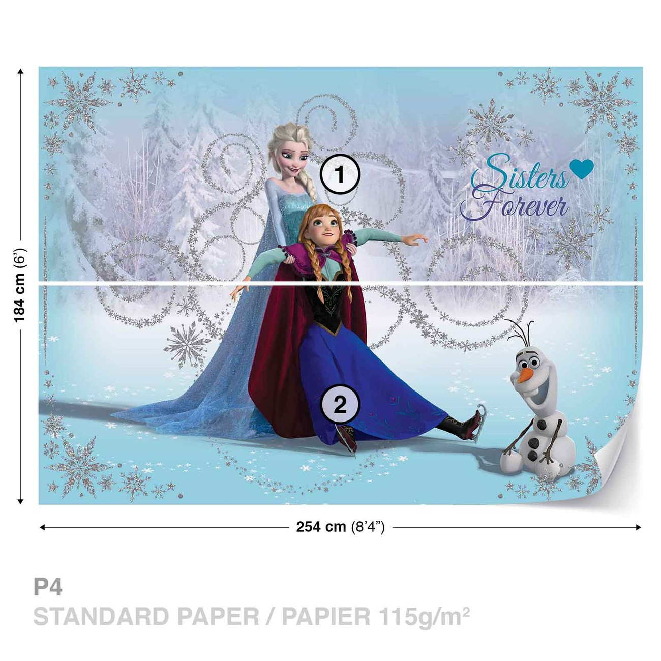 disney reine des neiges elsa anna olaf poster mural. Black Bedroom Furniture Sets. Home Design Ideas