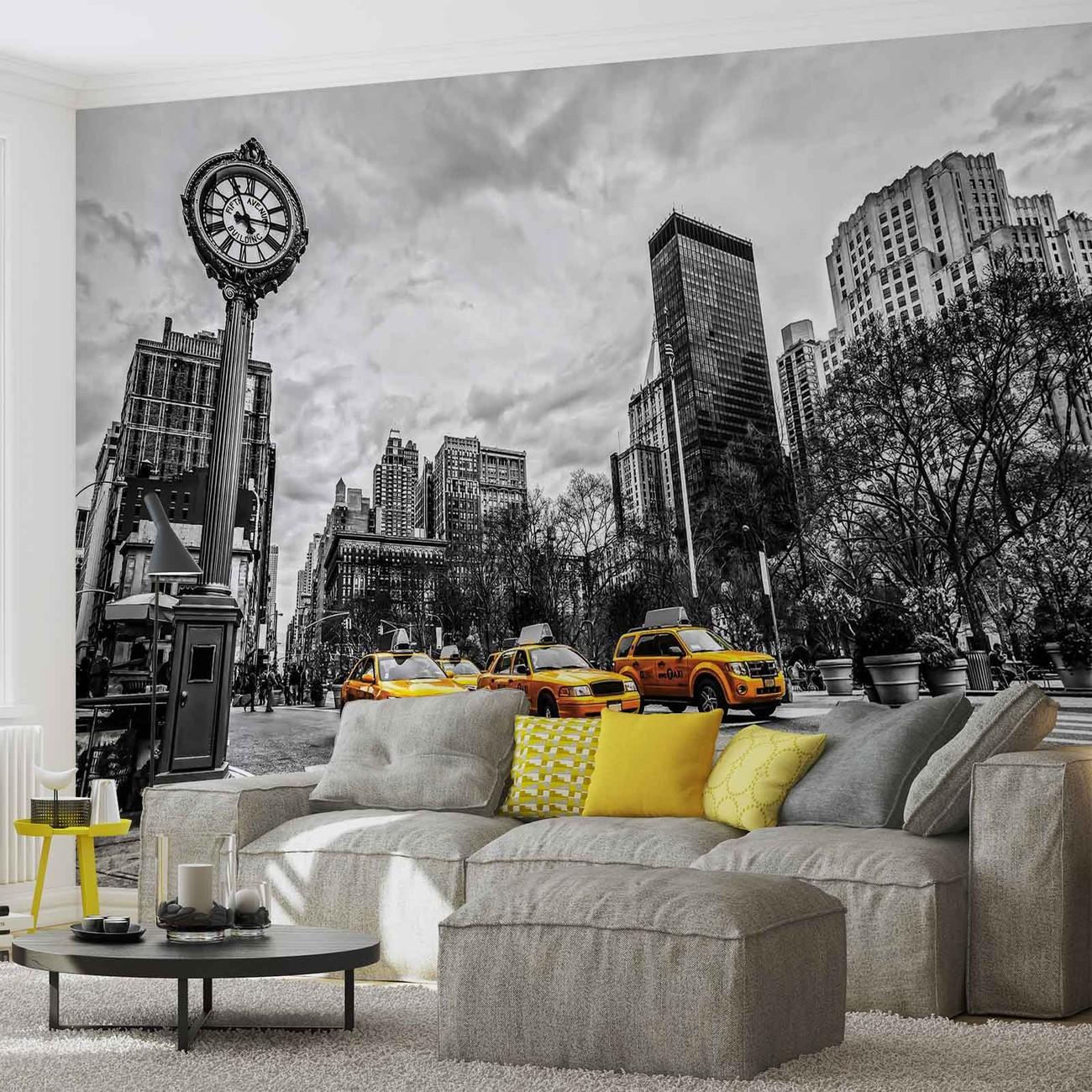 Fotomurale nueva york cabs papel pintado - Papel pintado nueva york ...