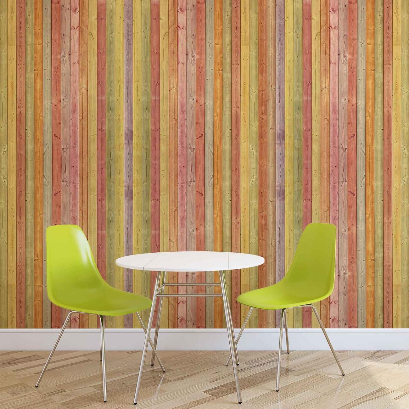 Fotomurale tablones de madera papel pintado for Papel mural tipo madera