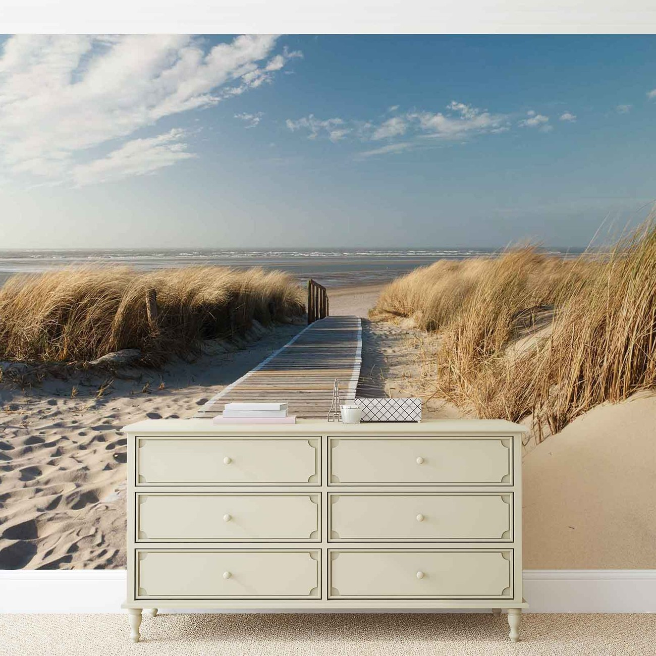 fototapete tapete weg strand natur bei europosters kostenloser versand. Black Bedroom Furniture Sets. Home Design Ideas
