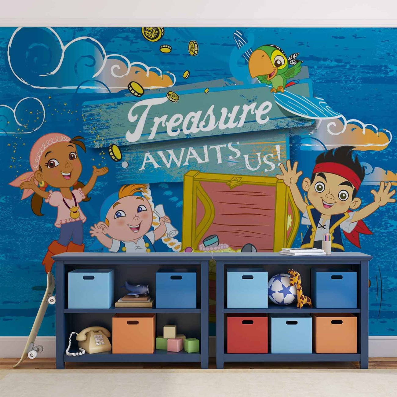 Fotomurale disney jake neverland piratas papel pintado - Papel pintado piratas ...