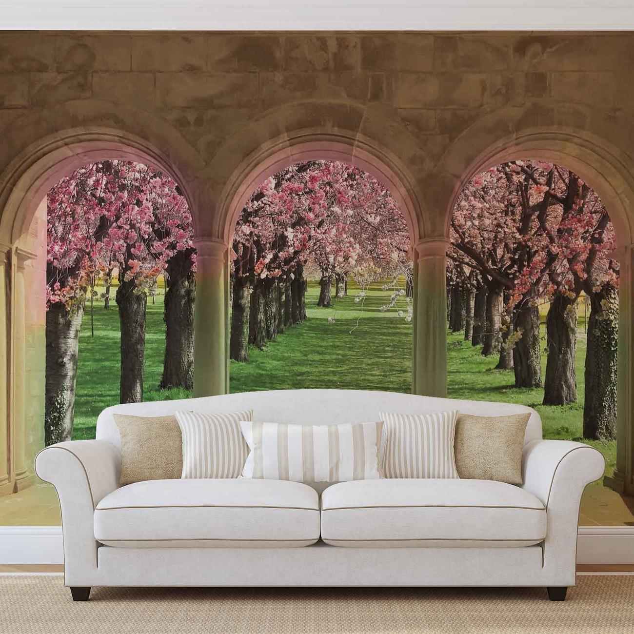 fototapete tapete blumen b ume natur bei europosters. Black Bedroom Furniture Sets. Home Design Ideas