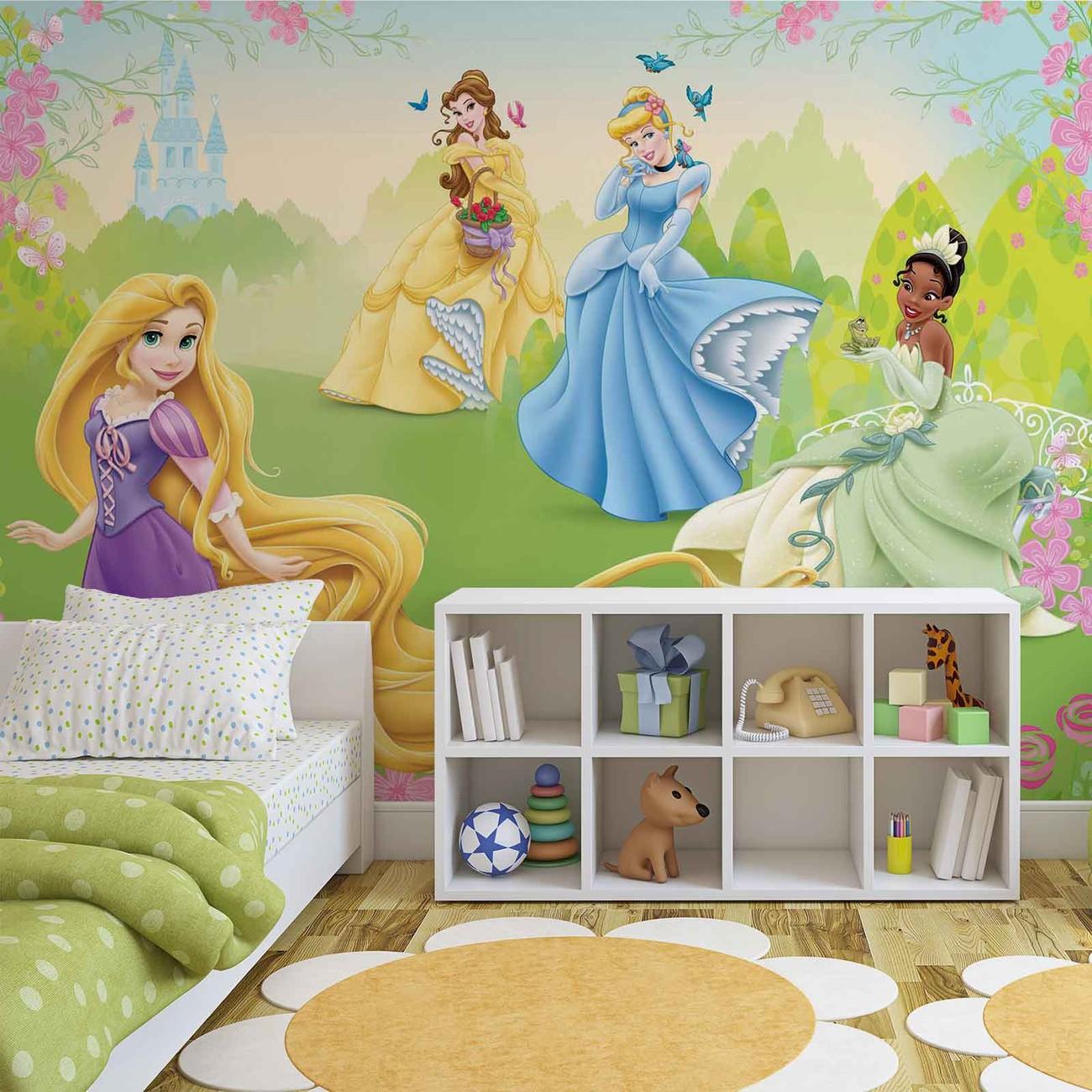 Fotomurale princesas de disney rapunzel tiana belle papel for Papel pintado disney