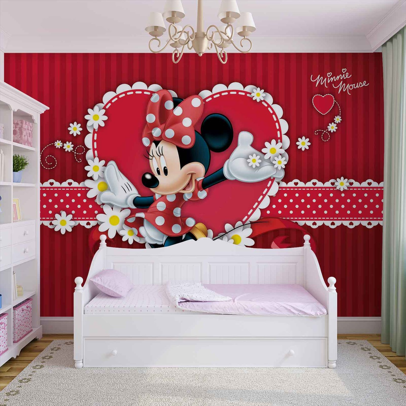 carta da parati disney topolina minnie. Black Bedroom Furniture Sets. Home Design Ideas