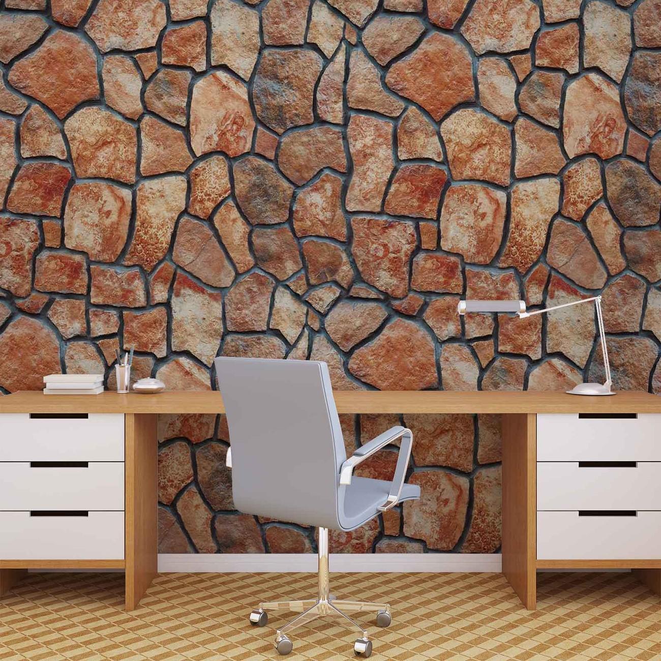 Fotomurale pared de piedra papel pintado for Fotomurales pared