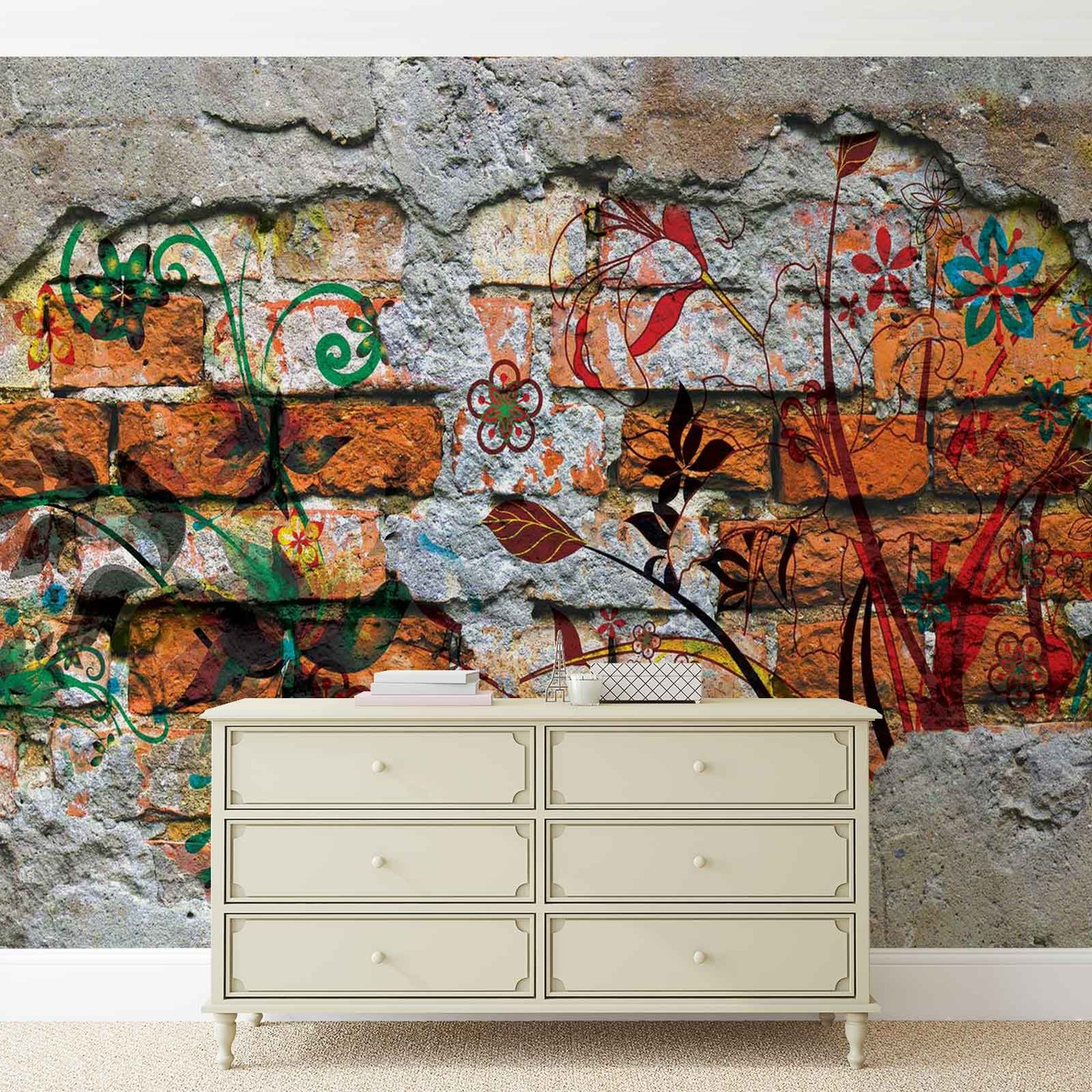 fototapete tapete wand graffiti street art bei europosters. Black Bedroom Furniture Sets. Home Design Ideas