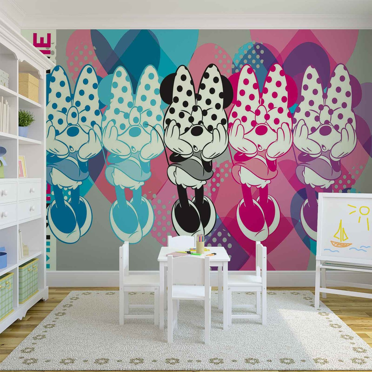 disney minnie mouse poster mural papier peint acheter. Black Bedroom Furniture Sets. Home Design Ideas