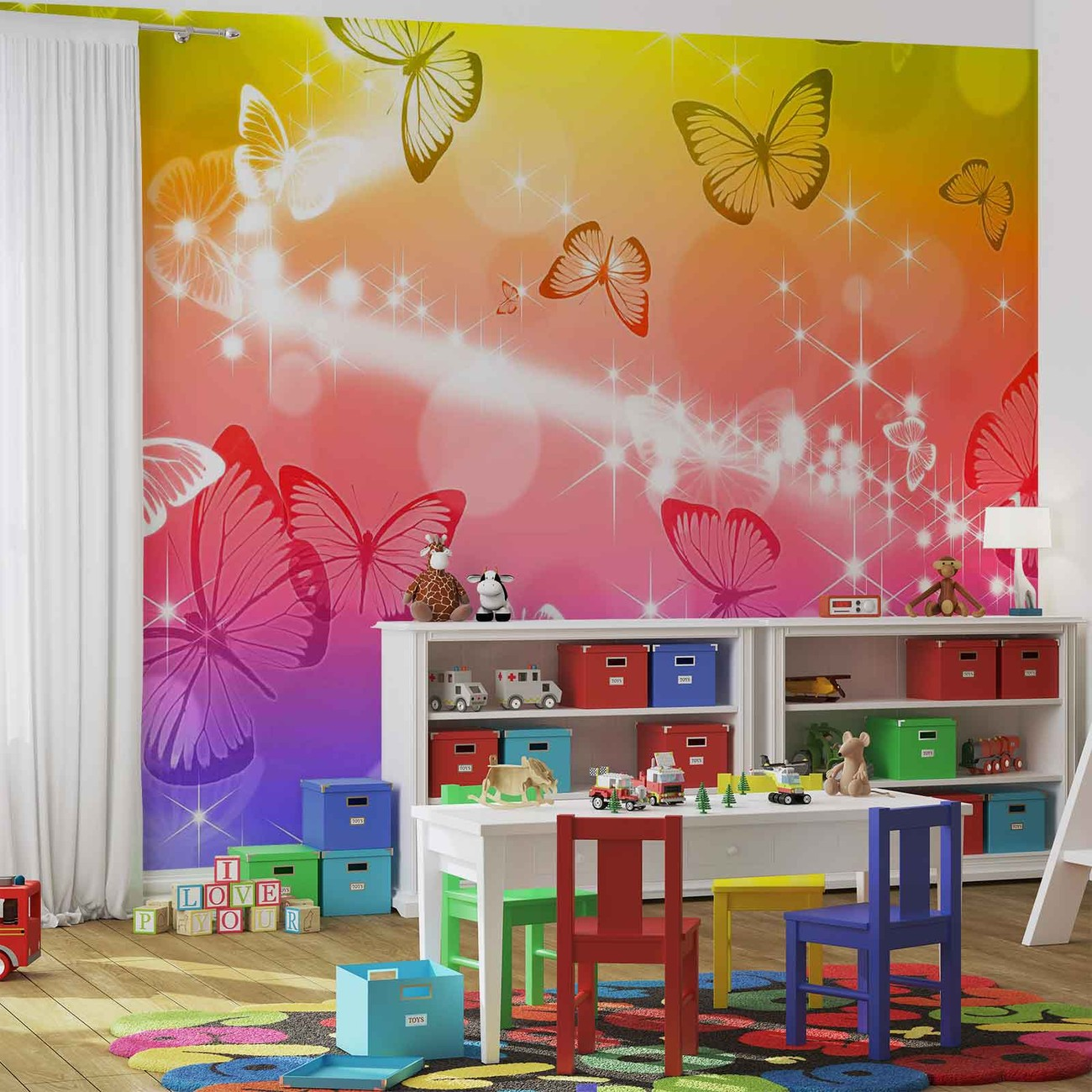 papillons poster mural papier peint acheter le sur. Black Bedroom Furniture Sets. Home Design Ideas