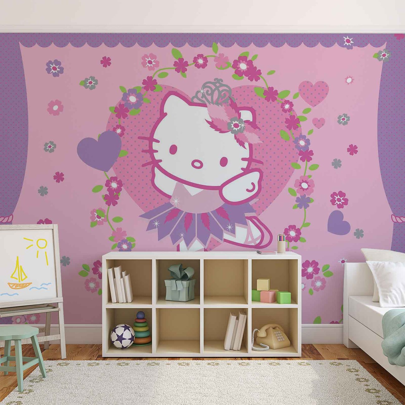 Fototapete, Tapete Hello Kitty bei Monkeyposters de ~ Tapetes Quarto Hello Kitty